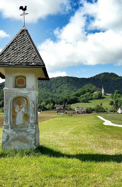 Žlebe with Church
